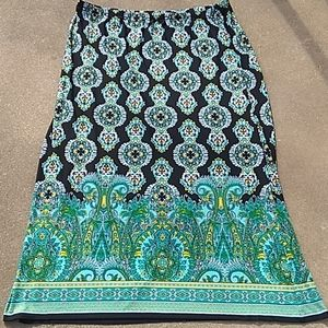 Women's Turquoise & Black skirt
